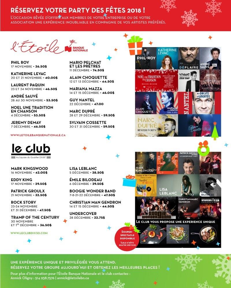 Le Club Dix30 Accueil